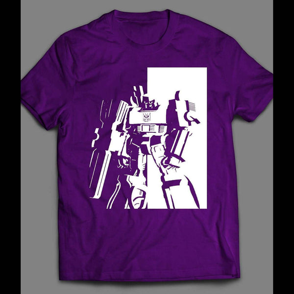 80'S CARTOON TRANSFORMERS DECEPTICON, MEGATRON SCARFACE STYLE T-SHIRT - Old Skool Shirts