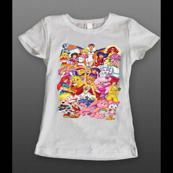 80s Cartoons Female Characters Oldskool Ladies Shirt 80 S 90 S To Today Quality Artistic Graphic Shirts
