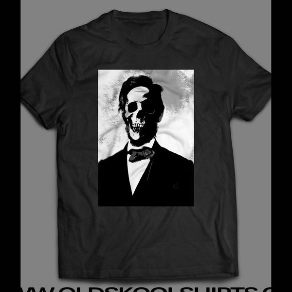 ABE LINCOLN SKULL SCARY T-SHIRT - Old Skool Shirts