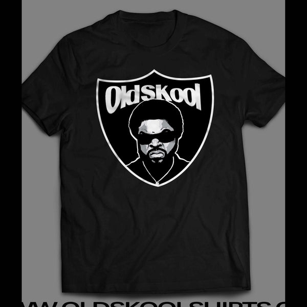 ACTOR/ RAPPER ICE CUBE RAIDERS SHIELD MASH UP SHIRT - Old Skool Shirts