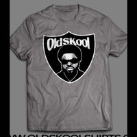 ACTOR/ RAPPER ICE CUBE RAIDERS SHIELD MASH UP T-SHIRT - Old Skool Shirts