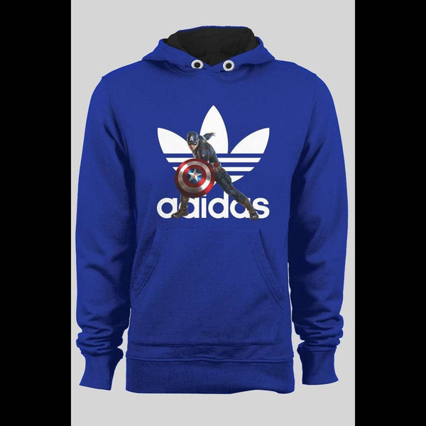 ADIDAS CAPTAIN AMERICA MASH UP WINTER HOODIE - Old Skool Shirts