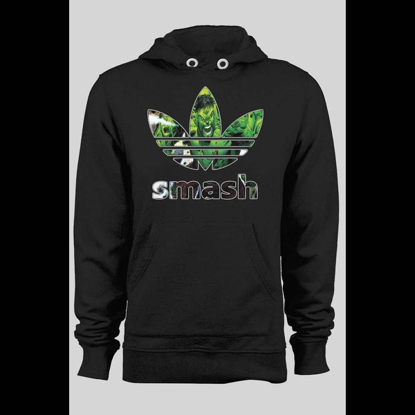 SPORTS WEAR PARODY HULK SMASH COMIC ART MASH UP CUSTOM ART WINTER HOODIE - Old Skool Shirts