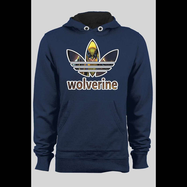 ADIDAS WOLVERINE MASH UP CUSTOM ART WINTER HOODIE - Old Skool Shirts