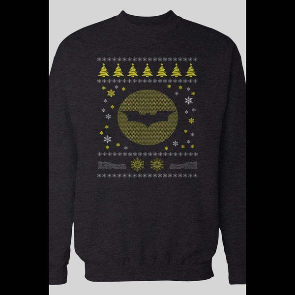 BATMAN LOGO UGLY CHRISTMAS SWEATER - Old Skool Shirts