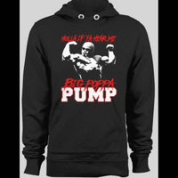 BIG POPPA PUMP, SCOTT STEINER HOLLA IF YA HEAR ME! BLACK WINTER HOODIE - Old Skool Shirts