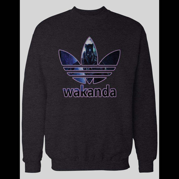 BLACK PANTHER WAKANDA COMIC BOOK ART ATHLETIC WEAR WINTER SWEATER - Old Skool Shirts