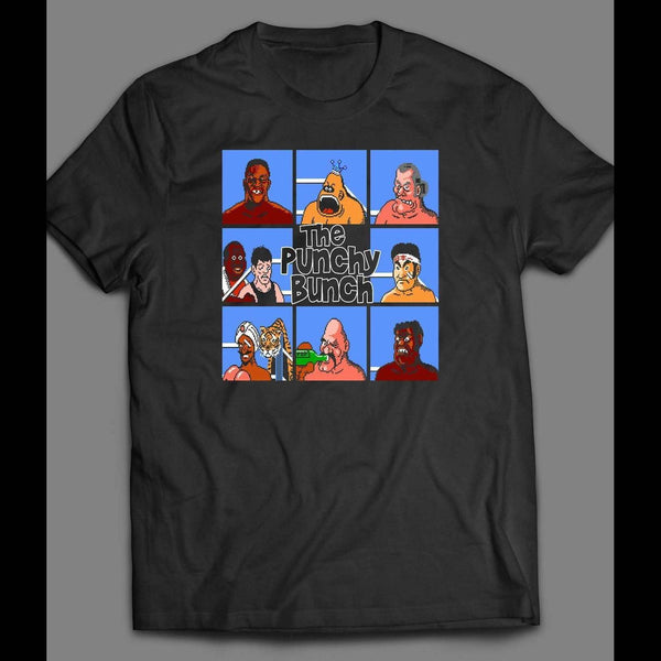 "BRADY BUNCH V TYSON'S PUNCH OUT PARODY ""PUNCHY BUNCH"" SHIRT - Old Skool Shirts"
