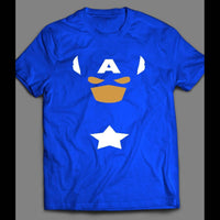 CAPTAIN AMERICA CUSTOM ART STYLE 2 (NO SHIELD) SHIRT - Old Skool Shirts