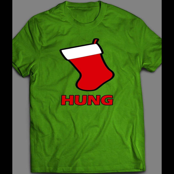"CHRISTMAS STOCKING ""HUNG"" CHRISTMAS SHIRT - Old Skool Shirts"