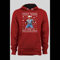 CHUCK NORRIS DECK YOUR HALLS CHRISTMAS PULL OVER HOODIE - Old Skool Shirts