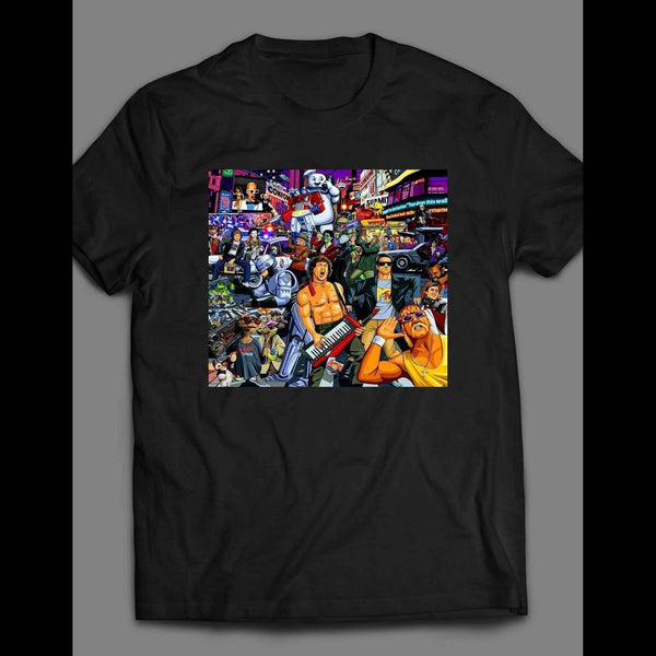 CLASSIC 80'S POP CULTURE COLLAGE SHIRT - Old Skool Shirts