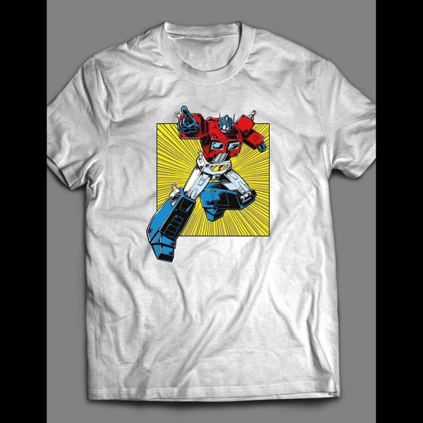 CLASSIC G1 TRANSFORMER'S OPTIMUS PRIME T-SHIRT - Old Skool Shirts
