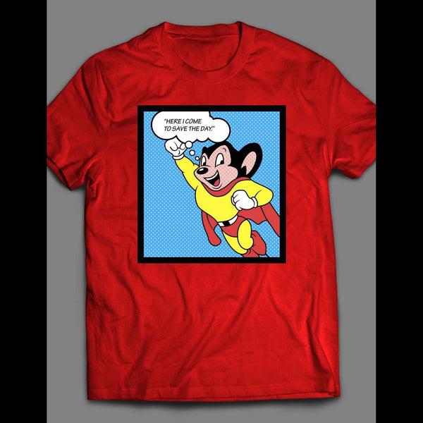 CLASSIC MIGHTY MOUSE POP ART SHIRT - Old Skool Shirts