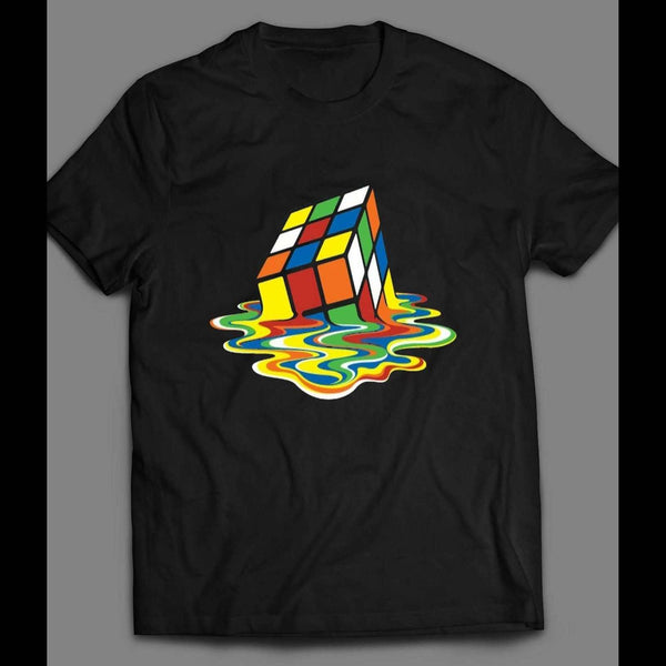 CLASSIC RUBIKS CUBE MELTING ART SHIRT - Old Skool Shirts