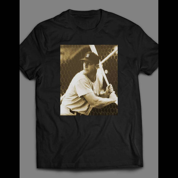 CLASSIC VINTAGE BASEBALL MICKEY MANTLE BATTING SHIRT - Old Skool Shirts