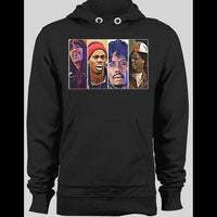 COMEDY CENTRAL'S DAVE CHAPPELLE CHARACTERS BLACK WINTER HOODIE - Old Skool Shirts