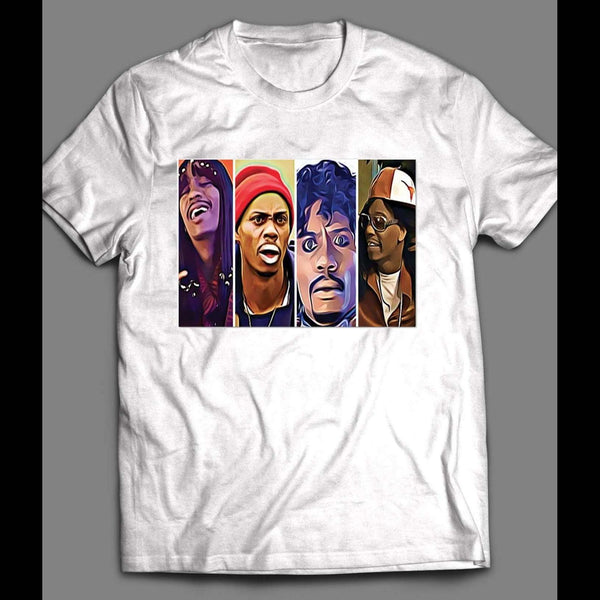 DAVE CHAPPELLE MULTI CHARACTER T-SHIRT - Old Skool Shirts