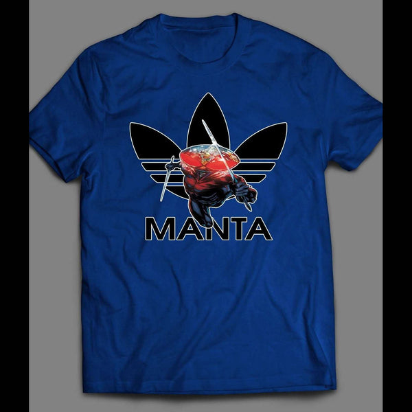 BLACK MANTA ATHLETIC WEAR PARODY T-SHIRT - Old Skool Shirts