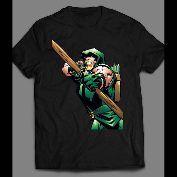 GREEN ARROW COMIC ART SHIRT - Old Skool Shirts