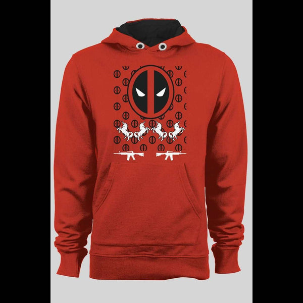 DEADPOOL UGLY CHRISTMAS SWEATER STYLE HOODIE - Old Skool Shirts