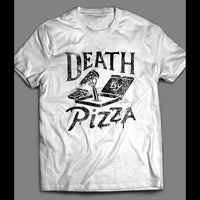 DEATH BY PIZZA FUNNY SHIRT - Old Skool Shirts