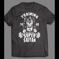 DRAGON BALL Z GYM TRAINING TO GO SUPER SAIYAN WHITE ART SHIRT - Old Skool Shirts