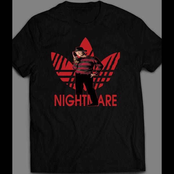 "FREDDY KRUEGER ""NIGHTMARE"" ATHLETIC WEAR HALLOWEEN SHIRT - Old Skool Shirts"