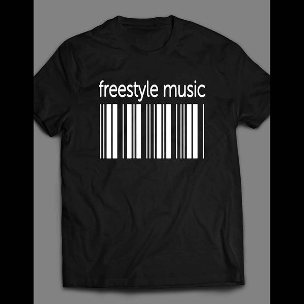 FREESTYLE MUSIC BAR CODE SHIRT - Old Skool Shirts