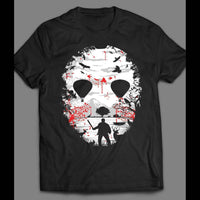FRIDAY THE 13TH CAMP CRYSTAL LAKE JASON'S HOCKEY MASK SHIRT - Old Skool Shirts