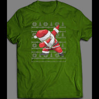 FUNNY DABBING SANTA CHRISTMAS SHIRT - Old Skool Shirts