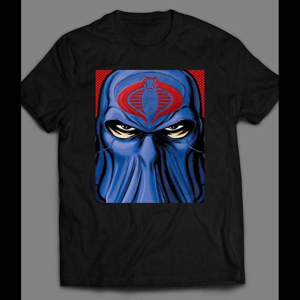 G.I. JOE'S COBRA COMMANDER RETRO EVIL ART SHIRT - Old Skool Shirts