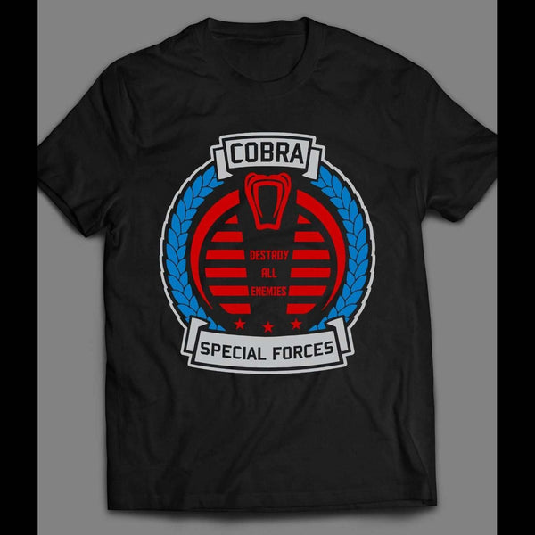 G.I. JOE'S COBRA SPECIAL FORCES LOGO VINTAGE CARTOON T-SHIRT