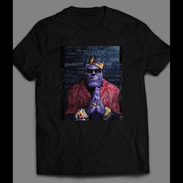 GANGSTER STYLE THANOS THE KING TITAN T-SHIRT - Old Skool Shirts