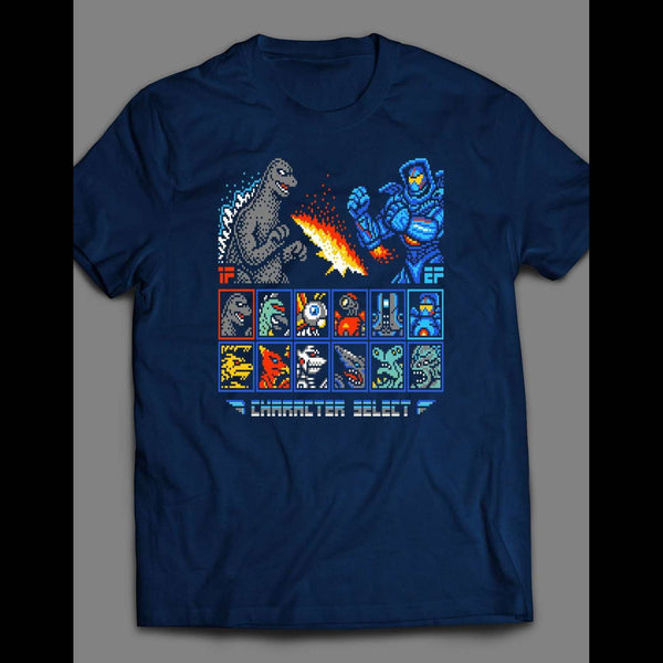 GODZILLA 16 BIT VIDEO GAME PARODY T-SHIRT
