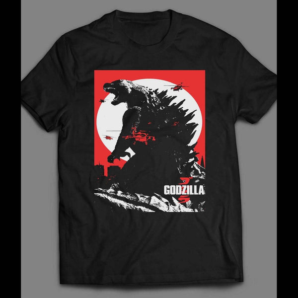 GODZILLA JAPANESE VERSION MOVIE POSTER SHIRT - Old Skool Shirts