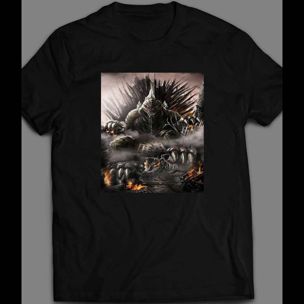 GODZILLA ON THRONE KING OF THE MONSTERS MOVIE INSPIRED SHIRT - Old Skool Shirts