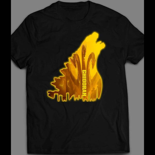 GODZILLA X KING GHIDORAH MASH UP KING OF THE MONSTERS ART SHIRT - Old Skool Shirts