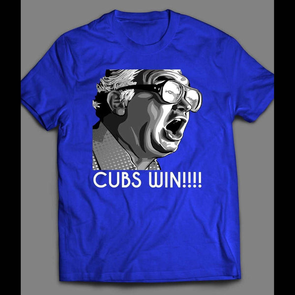HARRY CAREY CUBS WIN VINTAGE SHIRT - Old Skool Shirts