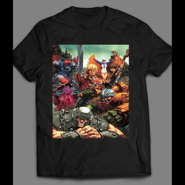 HE-MAN AND MASTERS OF THE UNIVERSE COMIC ART T-SHIRT