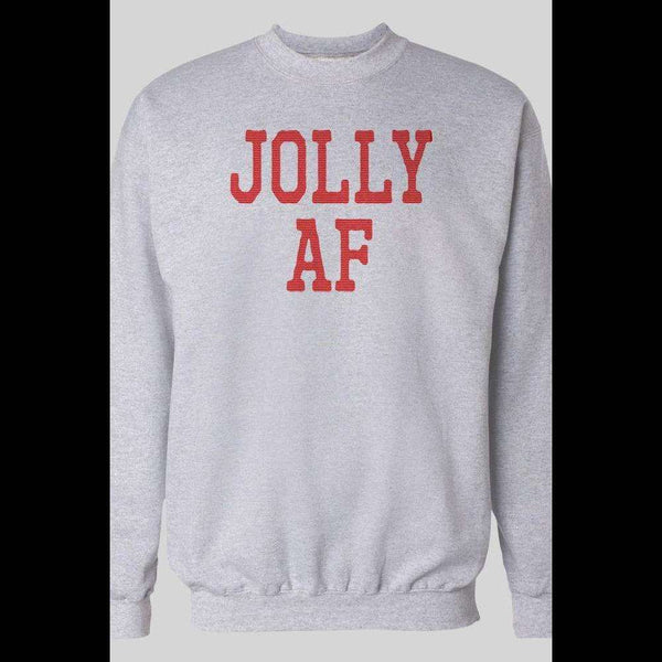 JOLLY AF HOLIDAY CHRISTMAS SWEATER - Old Skool Shirts