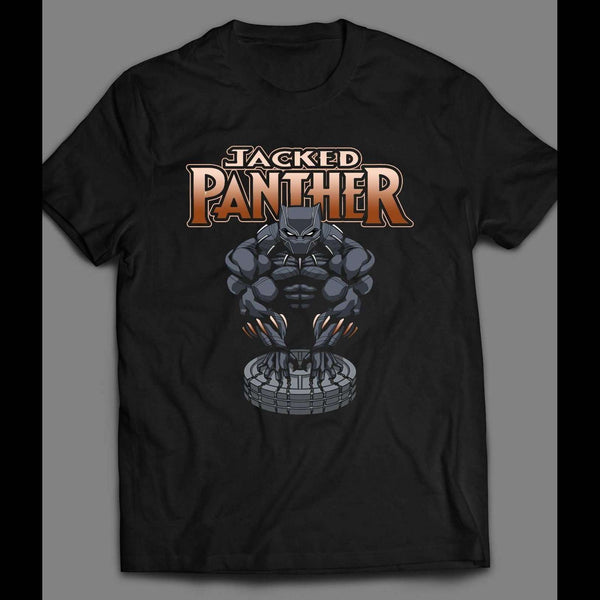 "BLACK PANTHER ""JACKED PANTHER ""GYM SHIRT - Old Skool Shirts"