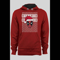 DEADPOOL SANTA CHRISTMAS UGLY SWEATER HOODIE - Old Skool Shirts