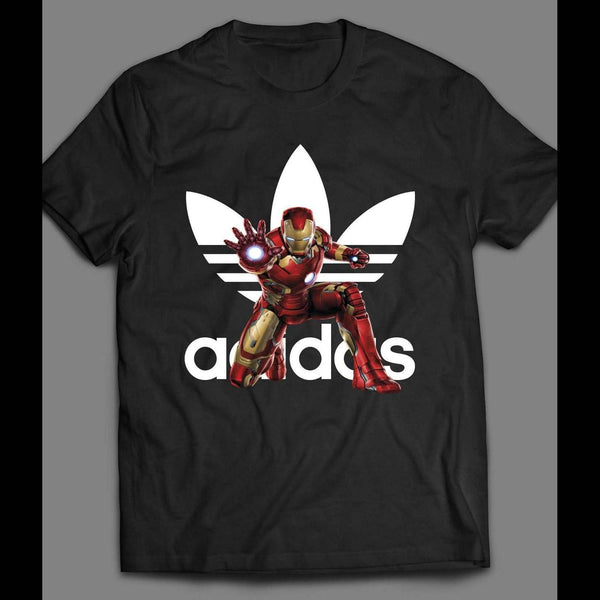 IRON MAN SPORTS WEAR PARODY SPORTY CIVIL WAR ART SHIRT - Old Skool Shirts