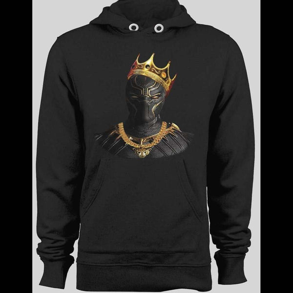 NOTORIOUS BLACK PANTHER BLACK WINTER HOODIE - Old Skool Shirts