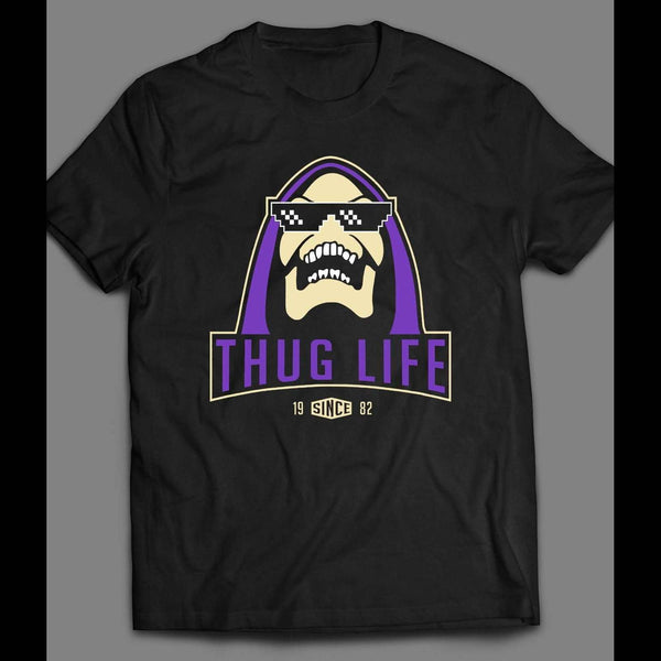 MASTERS OF THE UNIVERSE SKELETOR THUG LIFE CUSTOM ART T-SHIRT