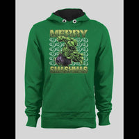 MERRY SMASHMAS HULK CHRISTMAS WINTER HOODIE - Old Skool Shirts