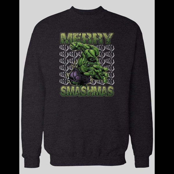 MERRY SMASHMAS HULK CHRISTMAS WINTER SWEATER - Old Skool Shirts