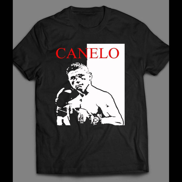 MEXICAN BOXING CANELO ALVAREZ SCARFACE STYLE SHIRT - Old Skool Shirts