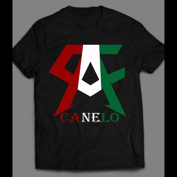 MEXICAN BOXING GREAT CANELO ALVAREZ LOGO SHIRT - Old Skool Shirts